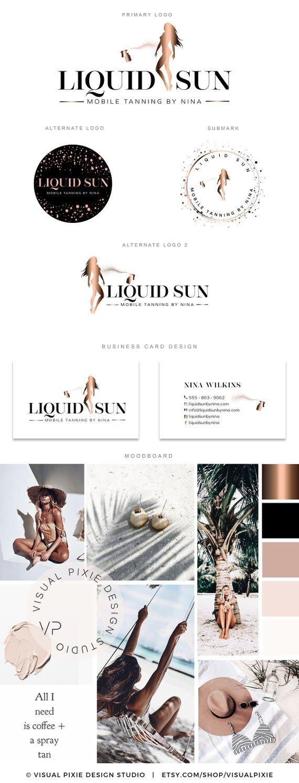Premium Branding Kit Spray Tan Logo Rose Gold Mobile