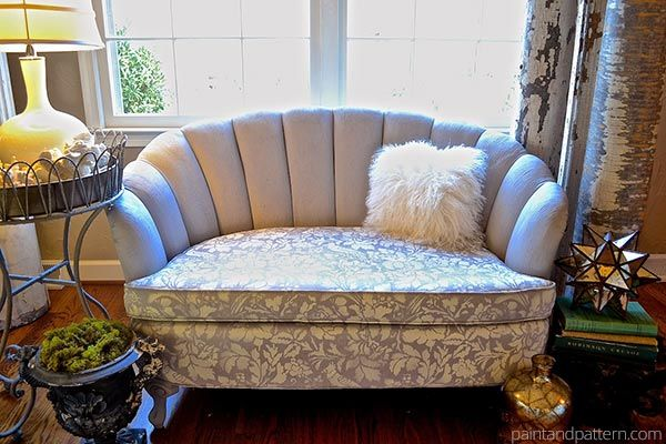 Chalk Paint Upholstery How To Paint And Stencil Furniture