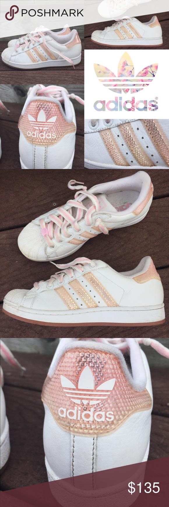 Rare Adidas superstar pink reflective