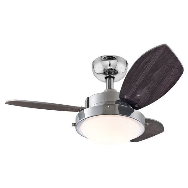Westinghouse 7876300 30 Chrome Three Blade Reversible Ceiling Fan With Light Ceiling Fan Ceiling Fan With Remote Best Ceiling Fans