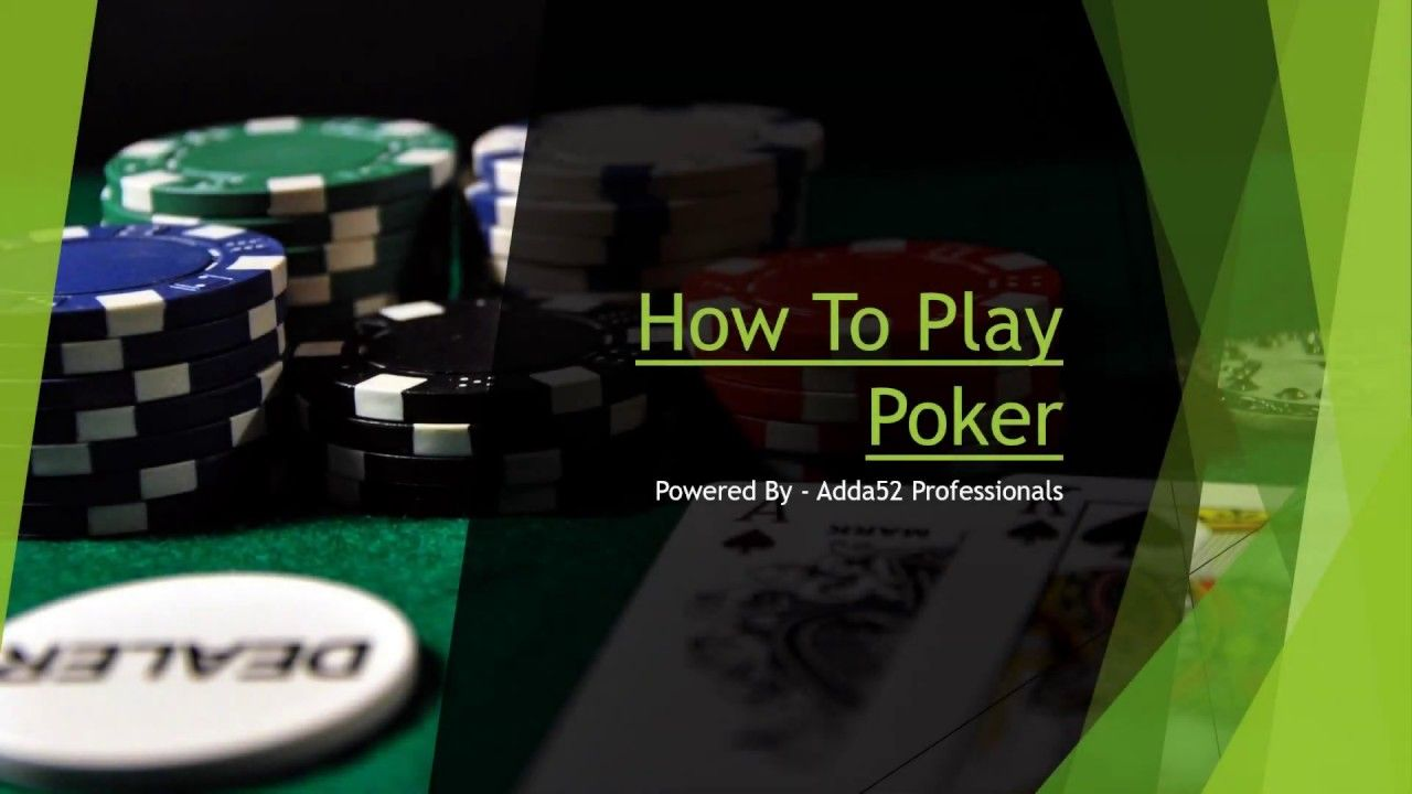 Learn How To Play Poker Game Online Poker Rules And Basics For Beginners Poker Rules Online Poker Poker How To Play