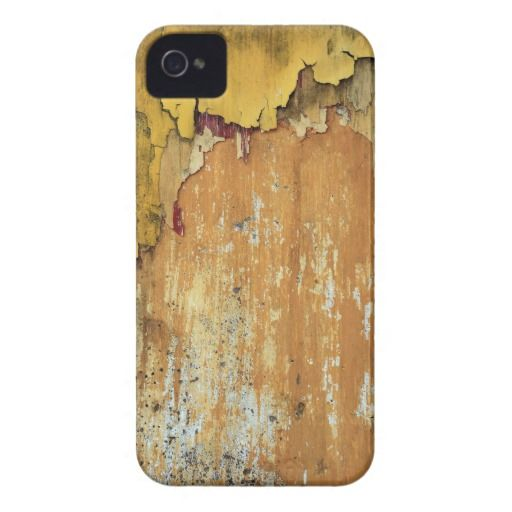 Old yellow wall peeling paint Case-Mate iPhone 4 case