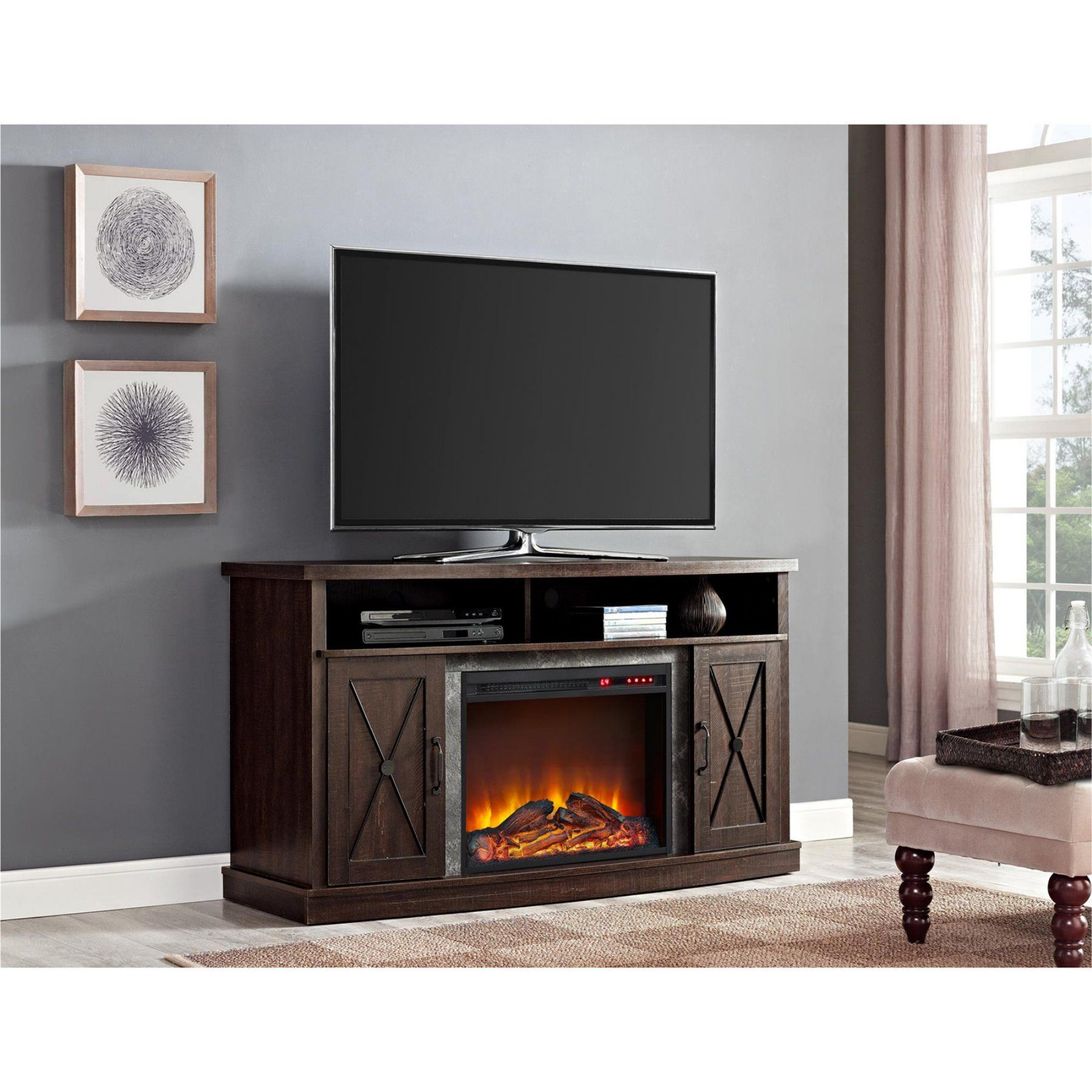 for tv walmart fireplace multiple console farmington sizes colors and inch electric tvs ip com