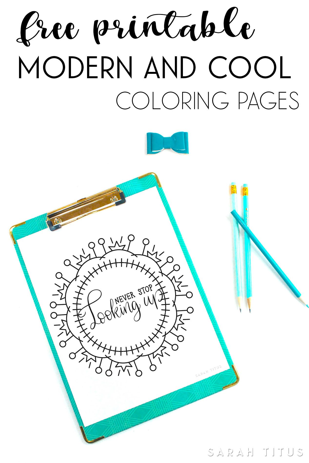 Free Printable Modern and Cool Coloring Pages | Frugal and Money ...
