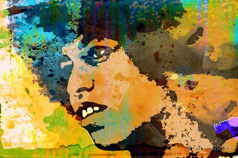 ANGELA DAVIS-4A by OTIS PORRITT