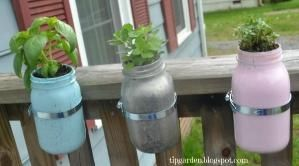 Upcycle Mason Jar Herb Garden by leanne