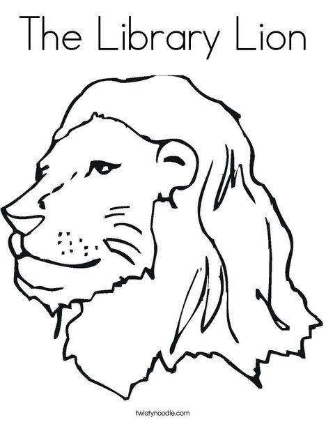 The Library Lion Coloring Page Twisty Noodle Zoo Coloring Pages Lion Coloring Pages Coloring Pages