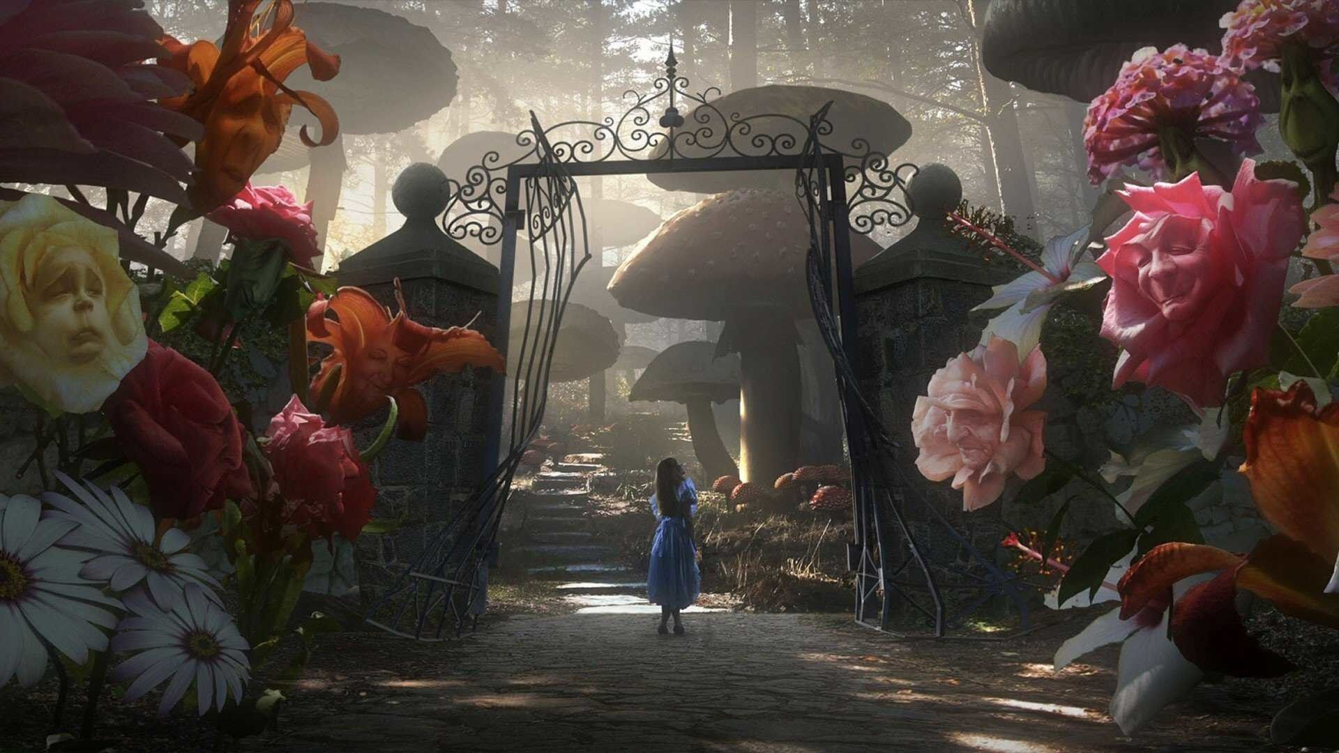 1920x1080 Thomas Kinkade Alice Wallpaper Website Screensavers Wonderland Screensaver I Alice In Wonderland Garden Alice In Wonderland Adventures In Wonderland