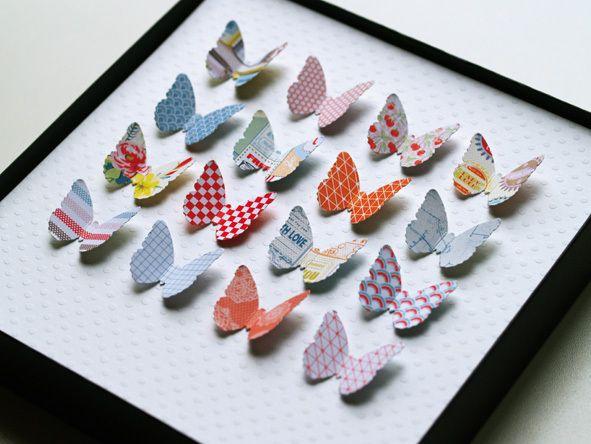 Fancy Papier Schmetterlinge Wanddeko paper butterflies via DaWanda