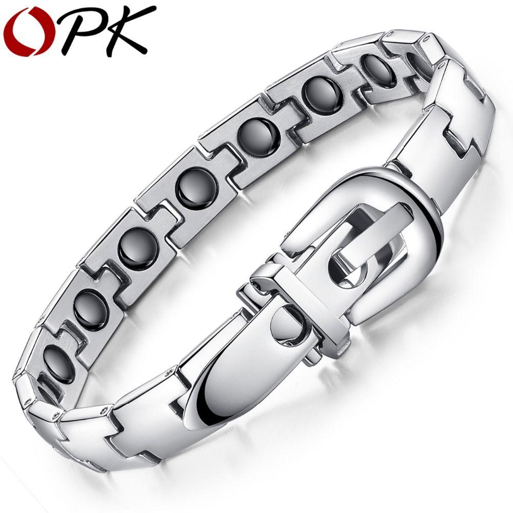 Opk jewelry bracelet healing stainless steel magnetic bracelet