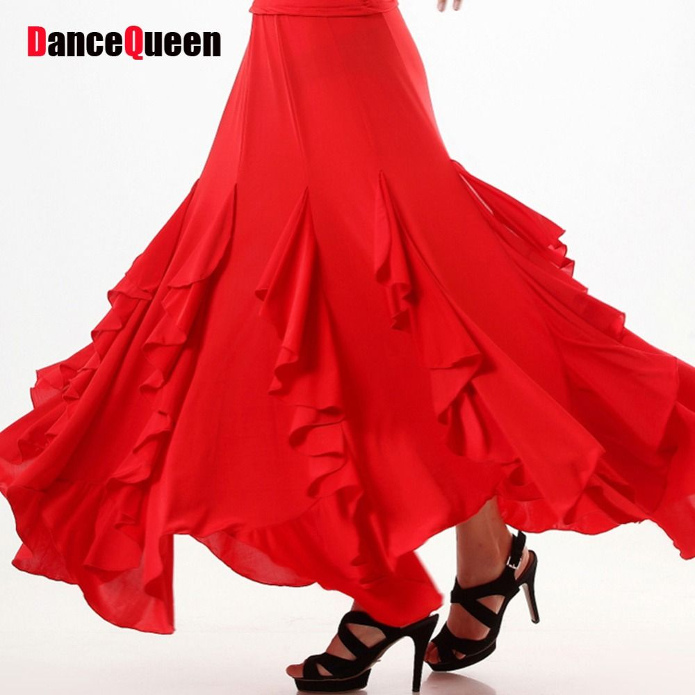 Click to Buy ucuc New Arrival Ballroom Dance Skirts RedBlue
