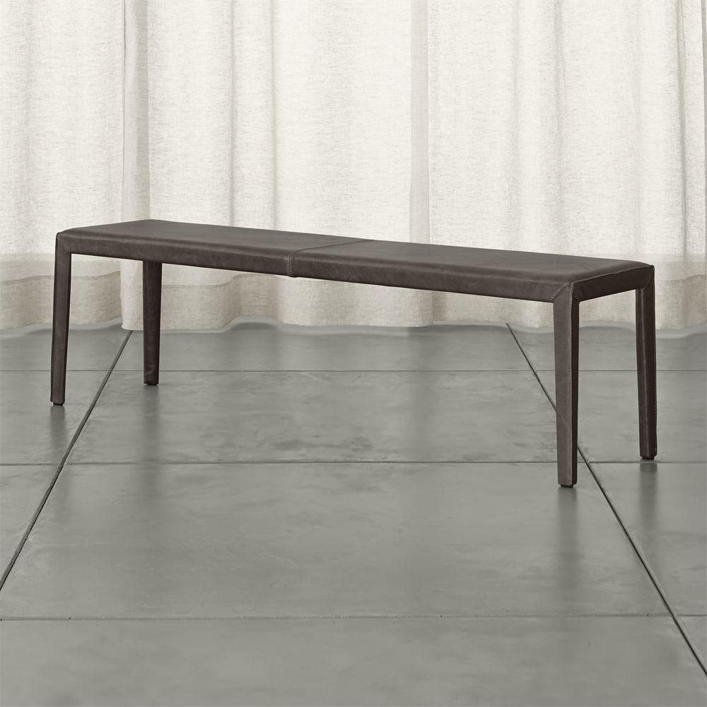 Awe Inspiring Folio Granite Grey Top Grain Leather 64 Bench Reviews Machost Co Dining Chair Design Ideas Machostcouk