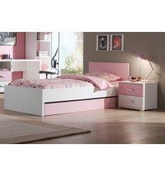 Lit Gigogne Pour Chambre Fille Rose Et Blanc Inspiration Chambre - Lit gigogne fille