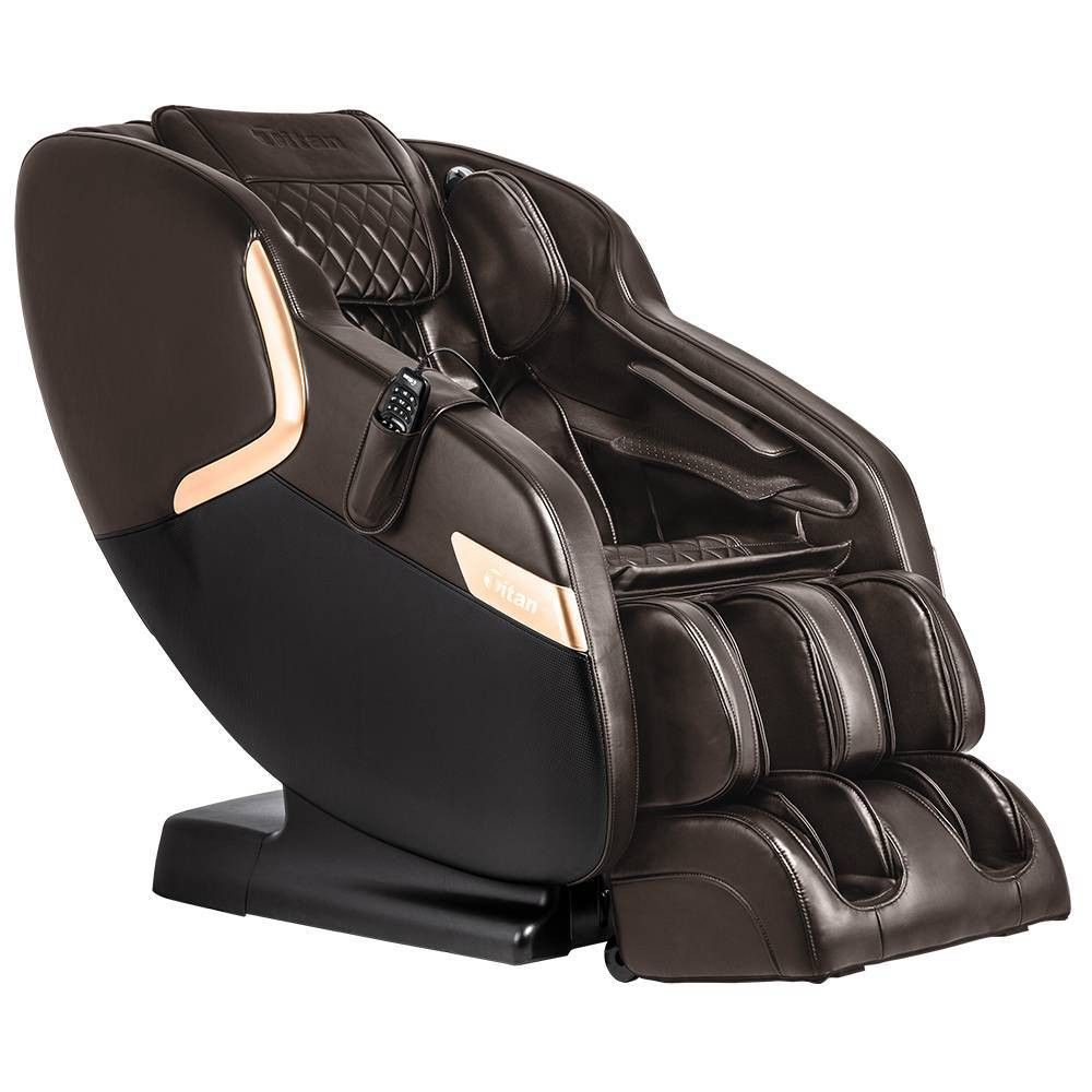 Luca V Shaped Massage Chair Brown Titan In 2020 Massage Chair Massage Chairs Feet Roller