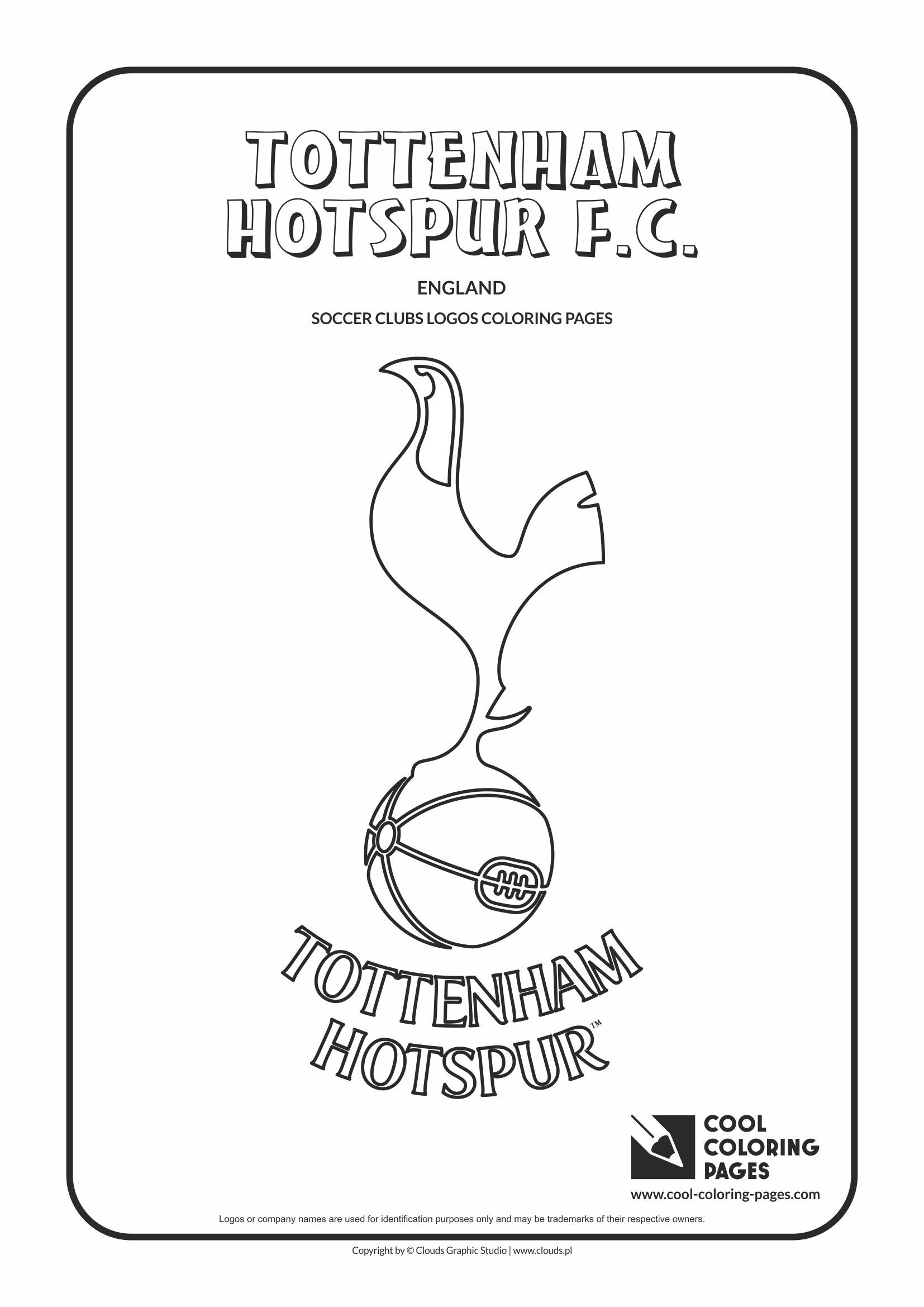 tottenham hotspur f c logo coloring coloring page with