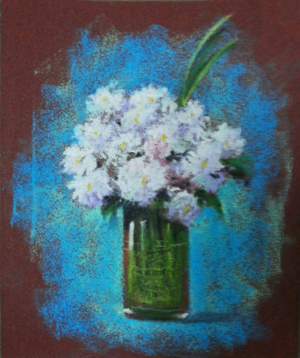 Flower vase oil pastels on sandpaper oil pastels pinterest oil flower vase oil pastels on sandpaper reviewsmspy