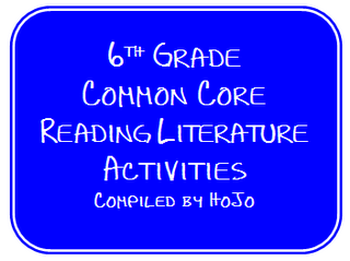 6th Grade Common Core Reading Literature FREEBIES!