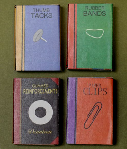 Diy Mini Quot Books Quot To Hold Office Supplies Made Out Of A