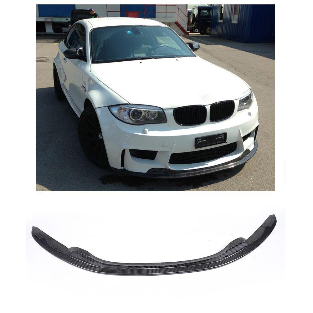 Carbon Fiber Front Bumper Lip Chin Spoiler For Bmw 1series E82 M