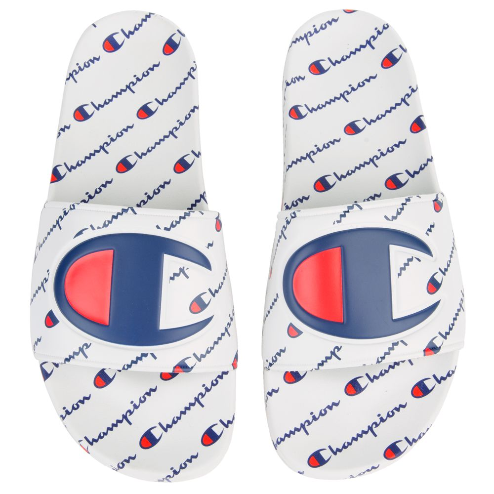 e255491d37f Champion Men s Champion Ipo Repeat Slides White