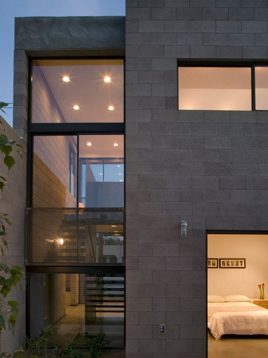 Wonderful Concrete Block House with Modern Design: Amazing The Double ...