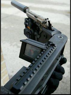 Cornershot System (employing Beretta M9 pistol) - http://www.RGrips.com