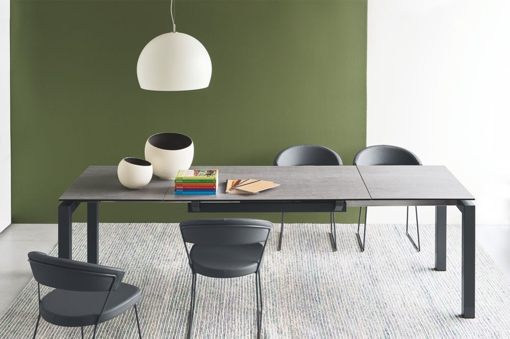 Calligaris Connubia Table AIRPORT 4011 Frame grey Table top Ceramic