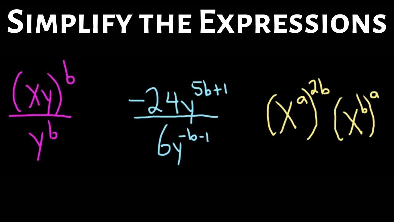 Simplify The Expression With Variable Exponents By Using The Properties Exponents Simplify Expressions