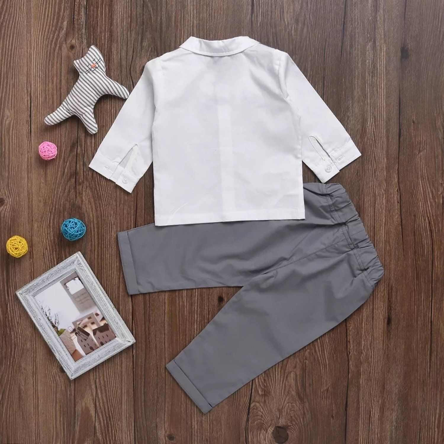 e01828d979c4 Infant and Toddler Baby Boy Gentleman Formal Party Wedding Suits Outfits  612Months Grey >>> For additional information, visit photo web link.