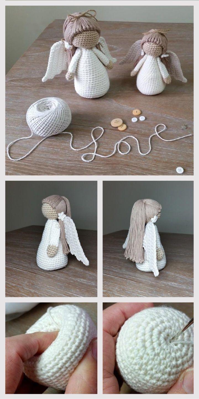 Amigurumi Doll Angel Tutorial #amigurumi #amigurumidoll #amigurumipattern #stepbystep #amigurumitutorial #crochettutorial #crochettoy #amigurumitutorial