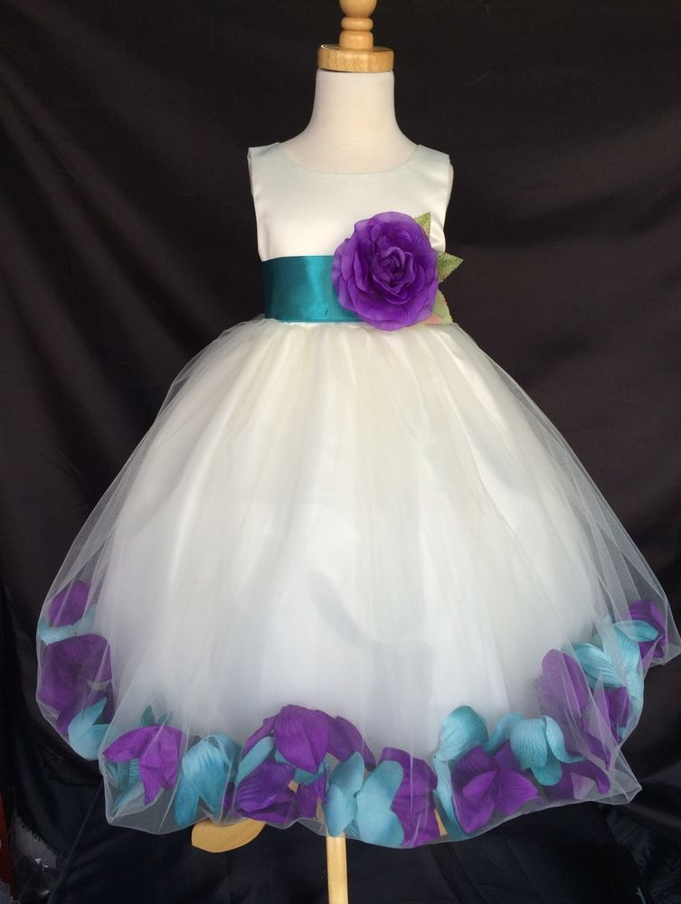 Details About Mardi Grass Ivory Flower Girl Bridesmaids