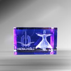 Mavili Kristal 3D Ve 2D Küp