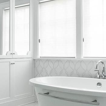 White and gray bathroom with silver mosaic glass tiles also best tile ideas from daltile images on pinterest