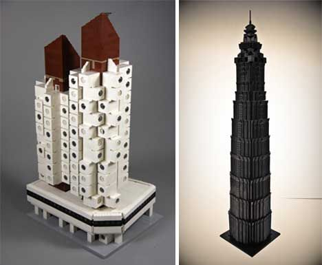 Modern Architecture Lego the nakagin capsule tower, one of the first prefab modular modern