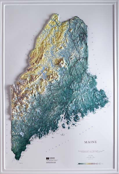 3D maine topo map | Topo | Pinterest | Maine, Map and Raising