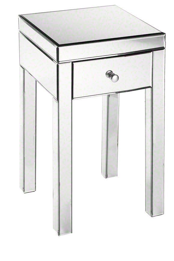 I love these mirrored #nightstands. They add a touch of #glamour to any #bedroom style.