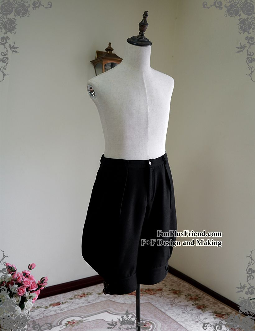 29c5f8c1dc Fanplusfriend Machine Birdcage Steampunk Lolita Puffy Breeches Riding  Breeches, Men Shorts, Black Shorts,