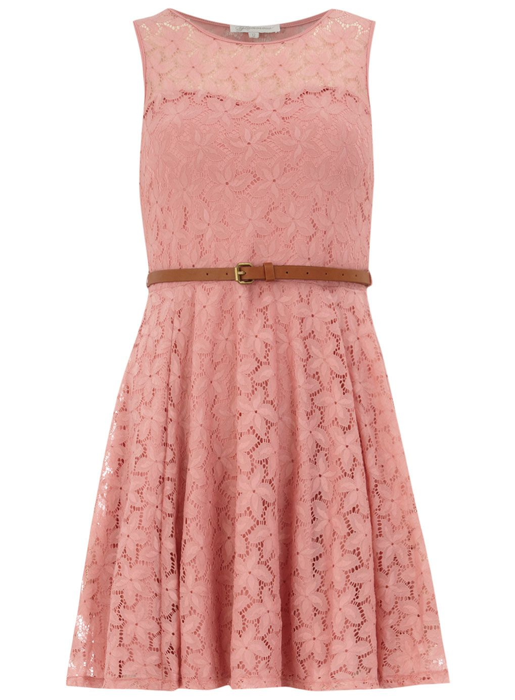 Pink sweetheart lace dress dorothy perkins mode pinterest
