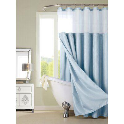 Laurel Foundry Modern Farmhouse Kason Shower Curtain Color Sky