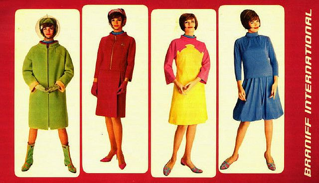 Emilo Pucci's Gemini 4 Collection for Braniff Airlines, 1965.