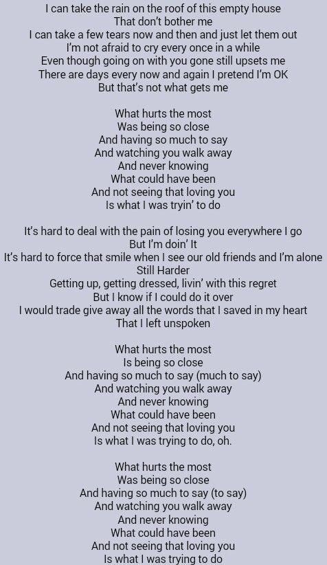 Adsbygoogle Window Adsbygoogle Push Rascal Flatts What Hurts The Most I Love Great Song Lyrics Music Quotes Lyrics What Hurts The Most
