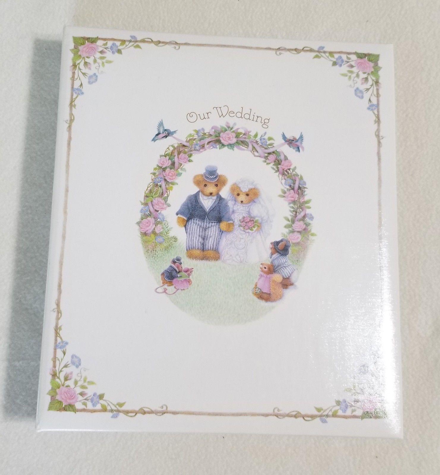 Hallmark Cherished Teddies Wedding Memory Scrapbook Photo Album