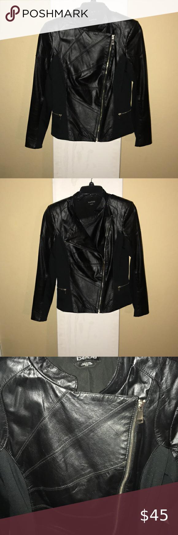Bebe Black Leather Jacket With Gold Zipper Detail Bebe Black Leather Jacket With Gold Zipper Detail Leather Black Leather Jacket Black Leather Leather Jacket [ 1740 x 580 Pixel ]