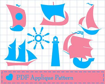 Ships set PDF APPLIQUE TEMPLATE