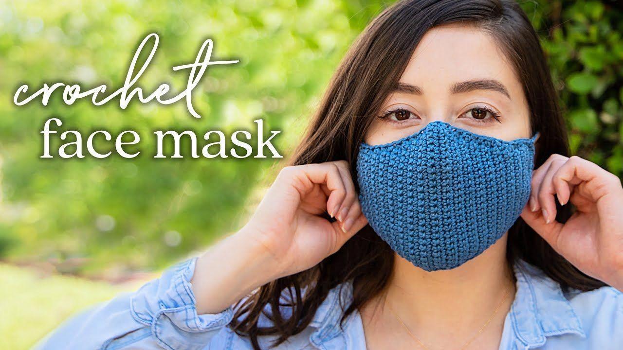 diy face mask kay in 2020 Crochet faces, Crochet mask