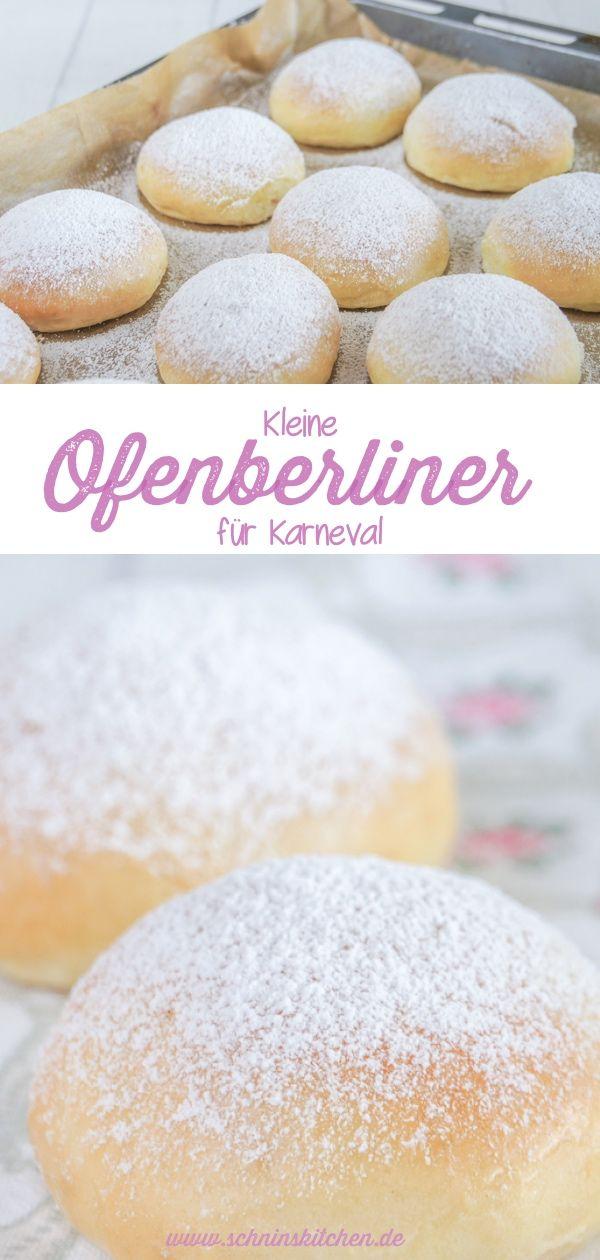 Fluffige Ofenberliner für Karneval - ohne Frittieren #foodsanddesserts