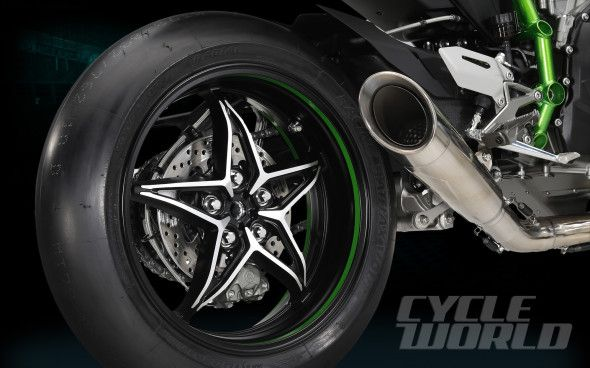 Kawasaki Ninja H2R Rear Wheel And Exhaust