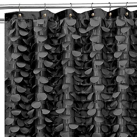 Curtains Ideas black cloth shower curtain : 17 Best images about House: Guest bath on Pinterest | Parks ...