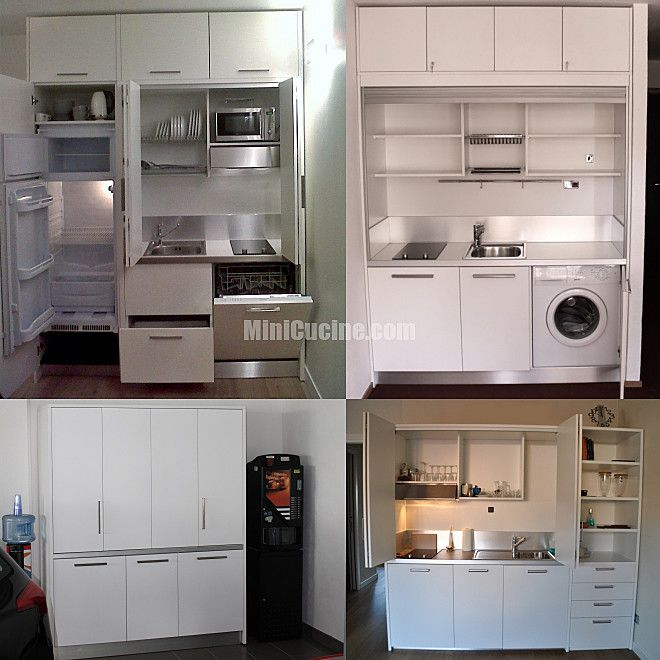 Cucine a scomparsa, Mini Cucine monoblocco | Small living and Kitchens