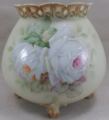 Royal Bayreuth Deponiert Porcelain Rose Bowl With Enameled